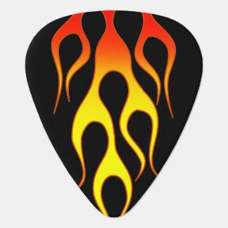 Orange Yellow Flame Graphics Plectrum