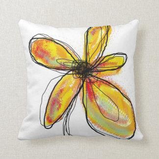 Orange - Yellow Floral Pillow Throw Cushions