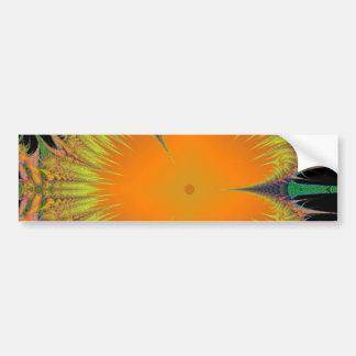 Orange Yellow Flower Fractal Art Gifts Bumper Sticker