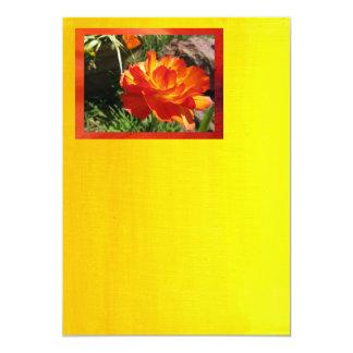 Orange Yellow Flower 5x7 Paper Invitation Card