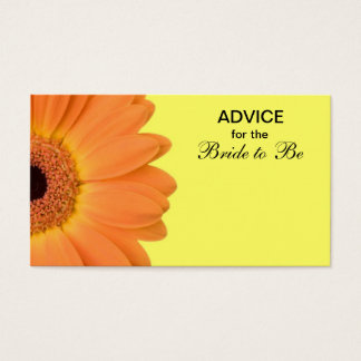 Orange & Yellow Gerber Daisy Advice for the Bride