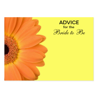 Orange Yellow Gerber Daisy Advice for the Bride Business Card