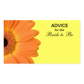 Orange & Yellow Gerber Daisy Advice for the Bride Pack Of Standard Business Cards