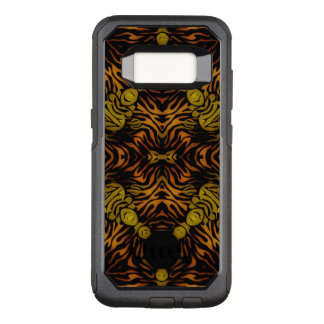 Orange Yellow Glossy Zebra OtterBox Commuter Samsung Galaxy S8 Case