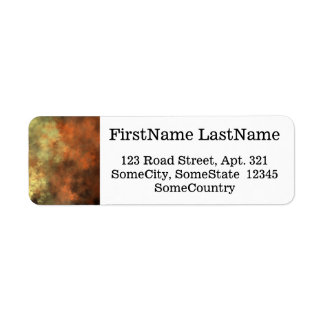 Orange, Yellow & Gray Mist-Like Pattern Return Address Label