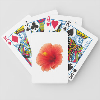 Orange Yellow Hibiscus Tropical Flower Florida Bicycle Playing Cards