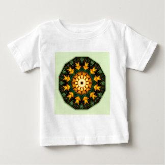 Orange Yellow Iris Nature, Flower-Mandala Baby T-Shirt