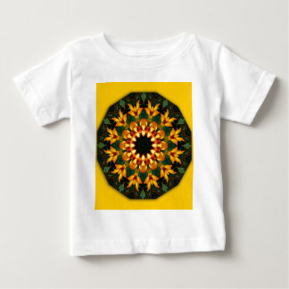 Orange Yellow Iris Nature, Flower-Mandala Baby T-Shirt
