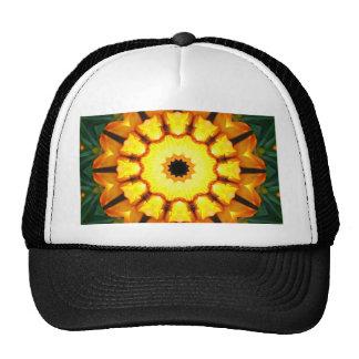 Orange Yellow Iris Nature, Flower-Mandala Cap