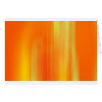 Orange & Yellow Motion Blur: Greeting Card
