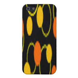 ORANGE YELLOW PLASTIC i PHONE CASE iPhone 5 Cover