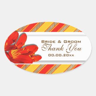 Orange yellow red wedding garden clivia sticker