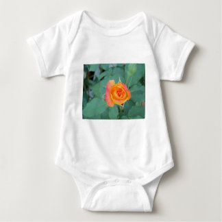 orange yellow rose flower baby bodysuit