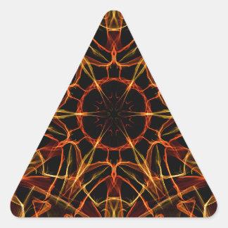 Orange Yellow Triangle Stickers