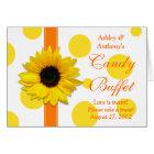 Orange Yellow Sunflower Wedding Candy Buffet Sign Card