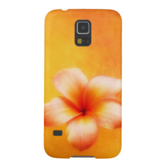 Orange Yellow Tropical Plumeria Hawaiian Case For Galaxy S5