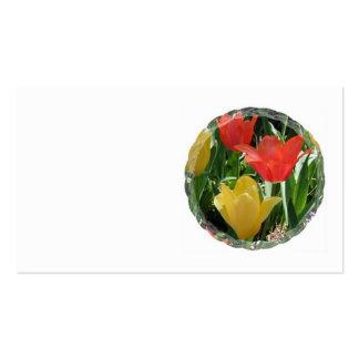 Orange & Yellow Tulips Business card