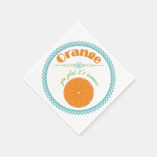 Orange You Glad It's Summer Fun Fruit Theme Disposable Serviettes