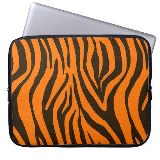 Orange Zebra Animal Print Pattern Laptop Sleeve