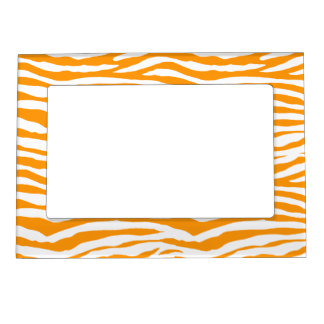 Orange Zebra Stripes Magnetic Frame