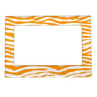Orange Zebra Stripes Magnetic Frame