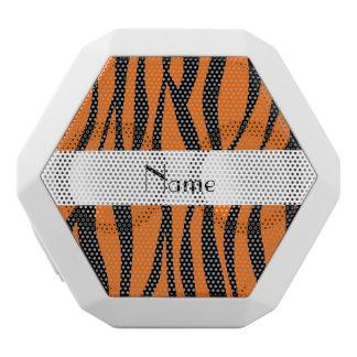 Orange zebra stripes white stripe white boombot rex bluetooth speaker