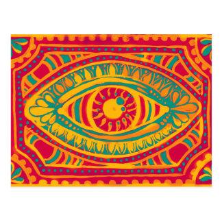 Orange Zest Gypsies Eye Postcard