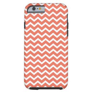 Orange Zig Zag Chevrons Pattern Tough iPhone 6 Case