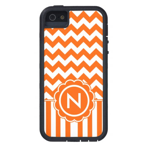 Orange Zig Zag Monogram Case For iPhone 5
