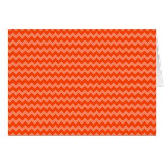 Orange Zig Zags Card