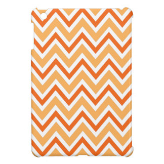 Orange zigzag chevron pattern chic trendy iPad mini case