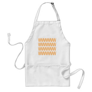Orange Zigzag Pattern with Diamond Shapes. Aprons