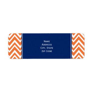 Orange Zigzag Pattern with Royal Blue Return Address Label