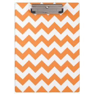 Orange Zigzag Stripes Chevron Pattern Clipboards