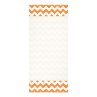 Orange Zigzag Stripes Chevron Pattern Full Colour Rack Card