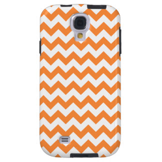 Orange Zigzag Stripes Chevron Pattern Galaxy S4 Case