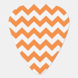 Orange Zigzag Stripes Chevron Pattern Guitar Pick