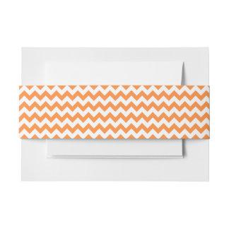 Orange Zigzag Stripes Chevron Pattern Invitation Belly Band