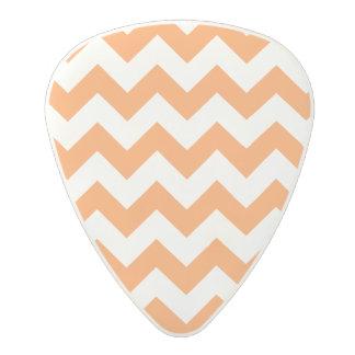 Orange Zigzag Stripes Chevron Pattern Polycarbonate Guitar Pick