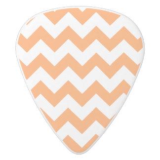 Orange Zigzag Stripes Chevron Pattern White Delrin Guitar Pick