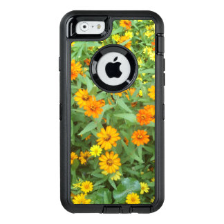 Orange Zinnia Flowers OtterBox Defender iPhone Six
