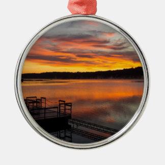 Orangelicious Morning Metal Ornament