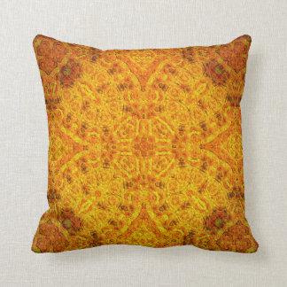 """""""Orangemental"""" Mandala Pillow"""