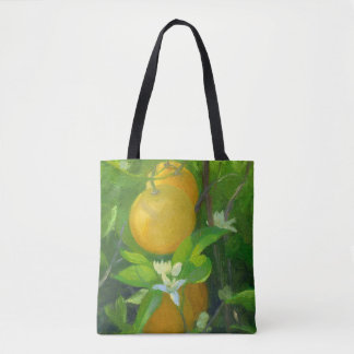Oranges and Blossoms Tote Bag