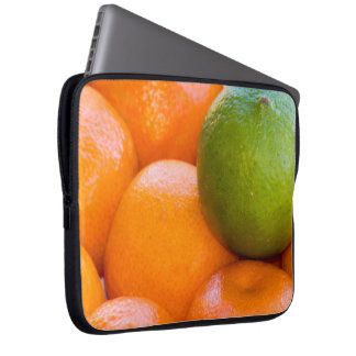 Oranges and Lime Close-Up Photograph Laptop Sleeve