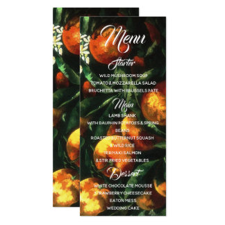 Oranges Botanical Menu Card