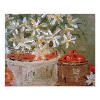 Oranges Daisies Art Print Photo Print