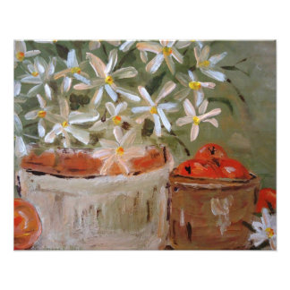 Oranges & Daisies Art Print Photo Print
