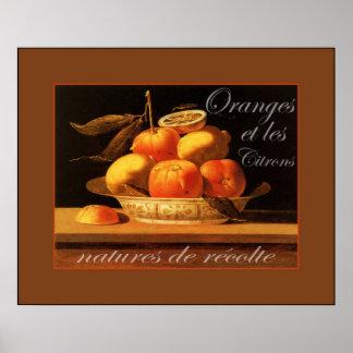 Oranges et les Citrons  ~ Vintage French Poster
