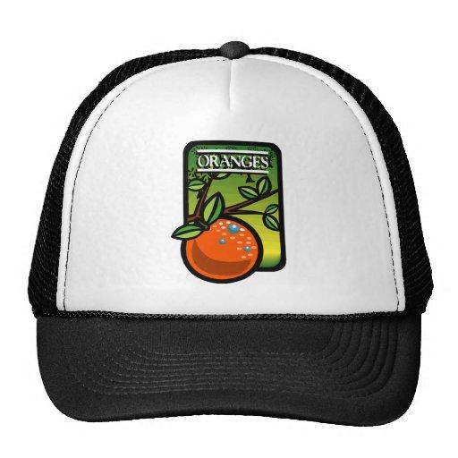 Oranges Mesh Hats